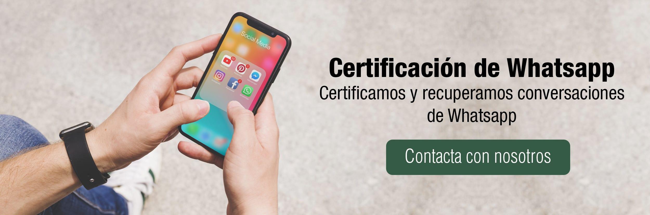 certificacion y recuperacion de whatsapp